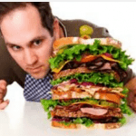man eating big sandwich