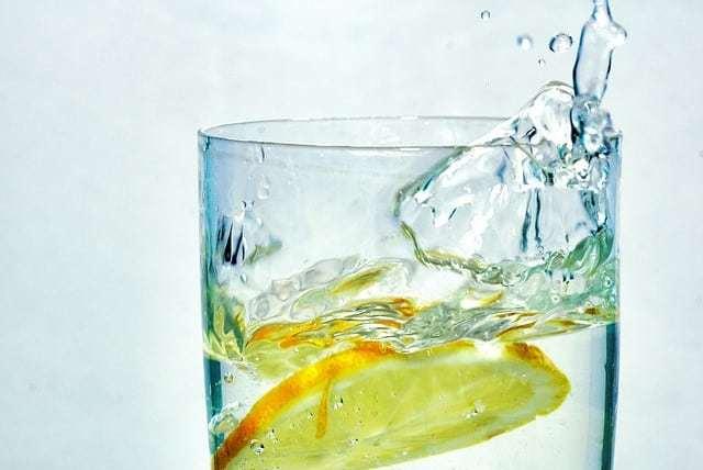 refreshing glass of water