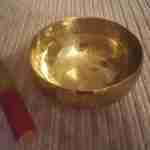 Tibetan singing bowl for mindfulness