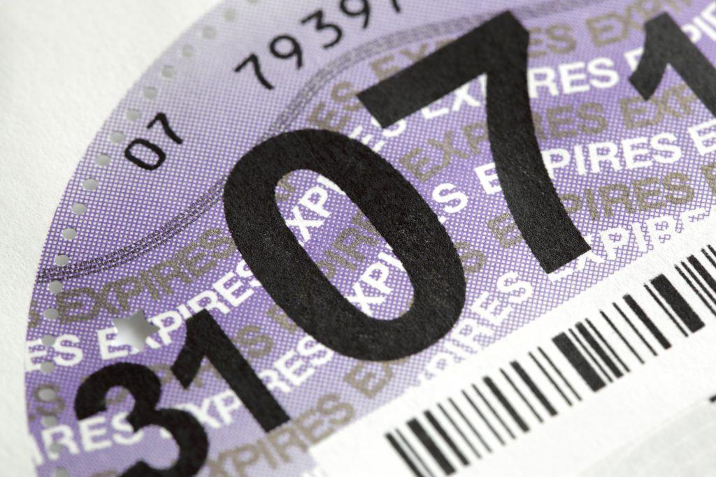 British road tax disc