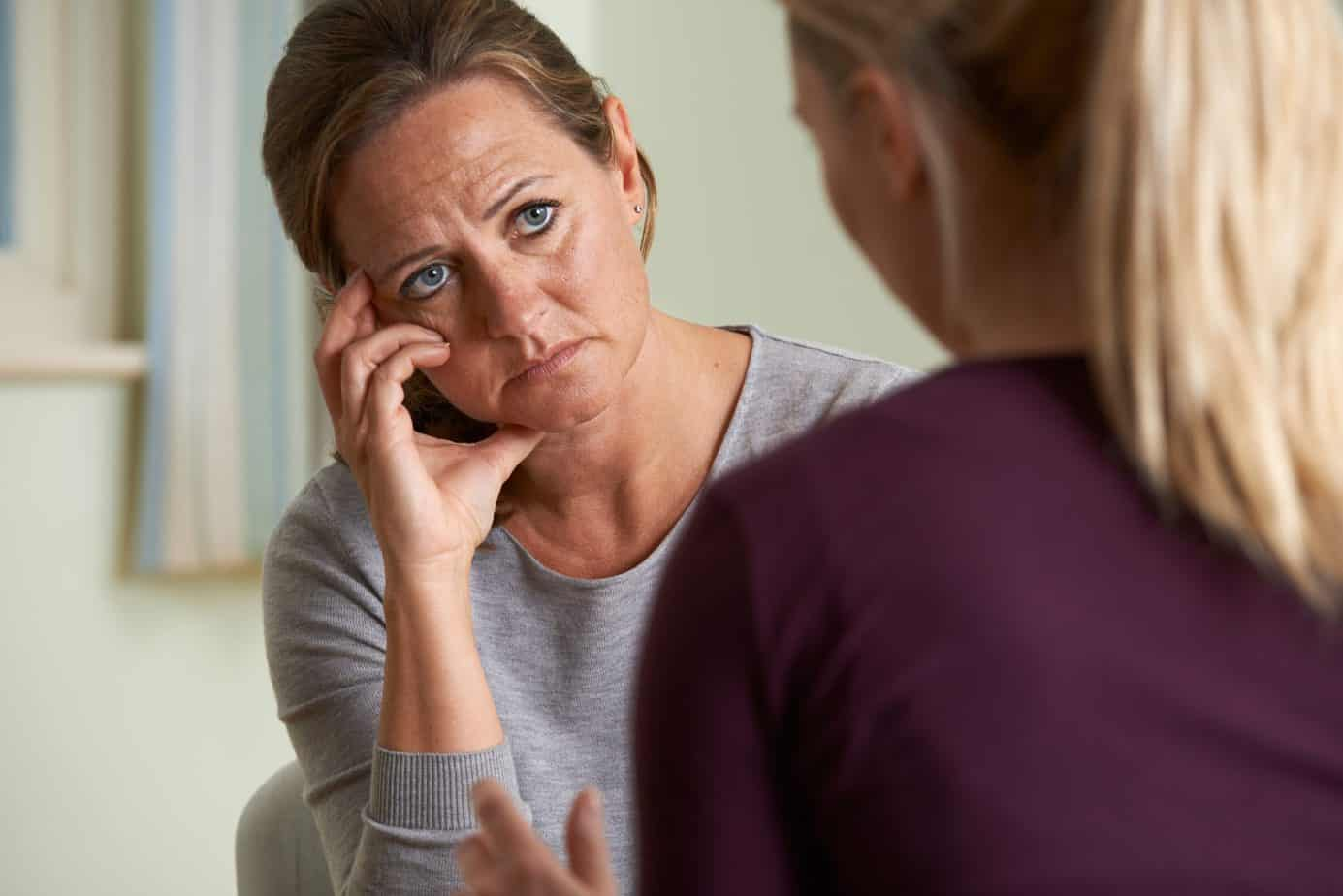 Depressed woman having counselling